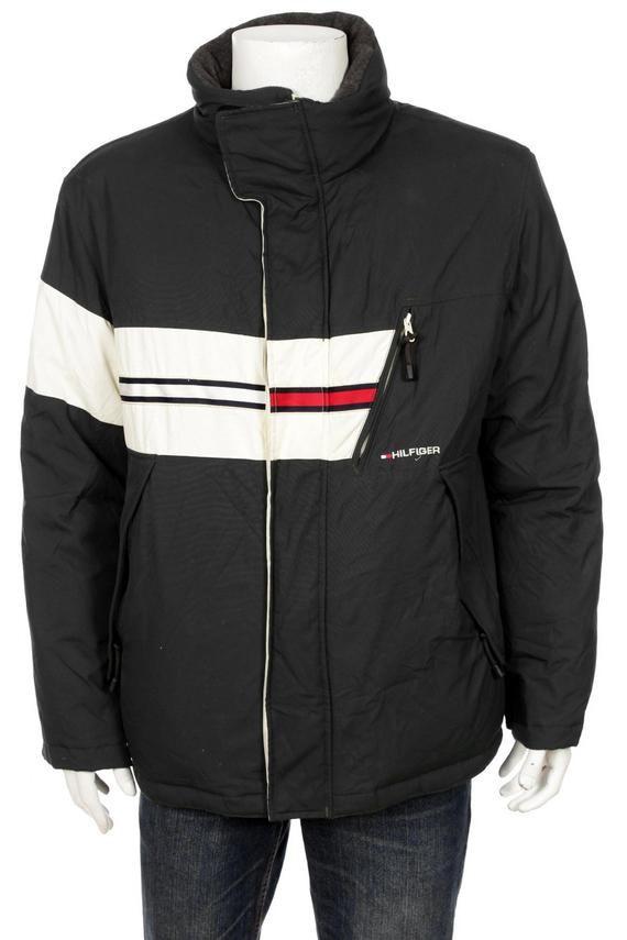 2d1aa842569 Vintage 90 s Tommy Hilfiger Goose Down Ski Jacket Flag Logo Spell Out Size L