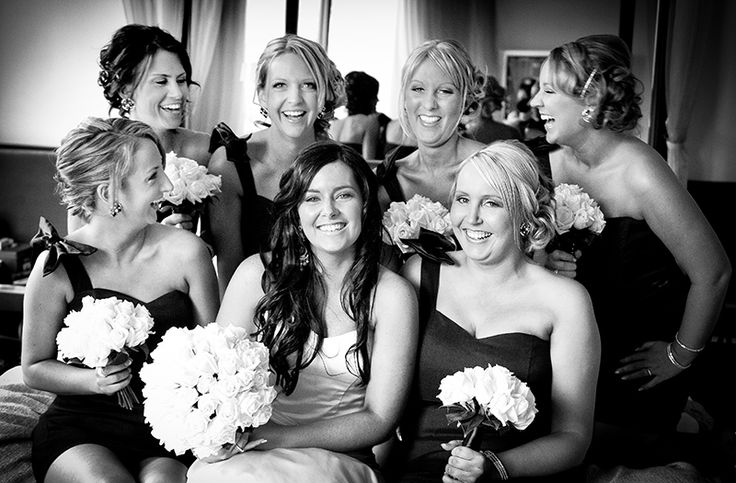 A wedding day is not complete without the help of your bridesmaids.