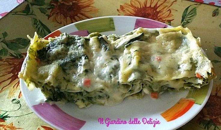 Le lasagnette asparagi e spinaci sono un ottimo primo piatto, colorato fresco primaverile, adatto per questo periodo che precede la Pasqua