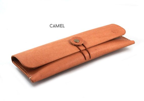 Hand-stitched leather pencil case/ multi-pouch by zenokleather