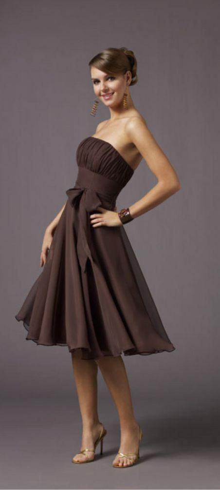 cute short bridesmaid dress