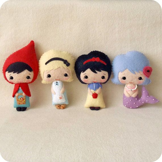 Felt fairy tale doll pattern. If I end up having a daughter, or even for a friend who has a little girl I would love to make these for her!