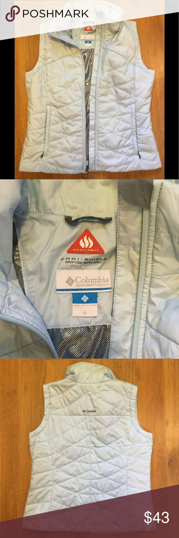 Columbia Omni-Heat XL Vest Great for fall! Light blue XL vest from Columbia. Lightly used. Columbia Jackets & Coats Vests