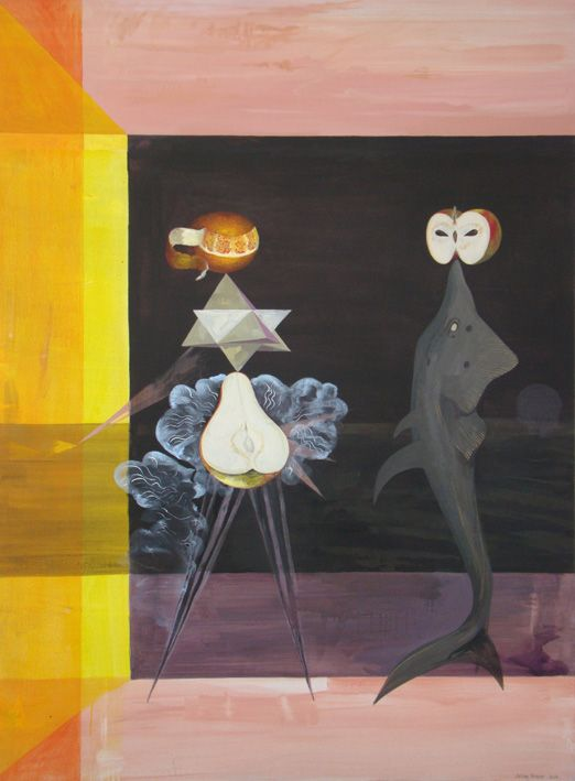 Second date  2009   Acrylic on Linen  195mm x 1450mm