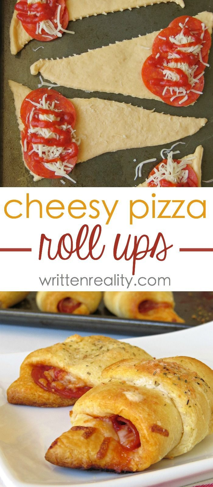 Crescent Roll Pizza Roll Ups : These crescent pizza roll ups are great to serve as a finger food or as an easy meal idea with a simple side. Easy and Delicious!