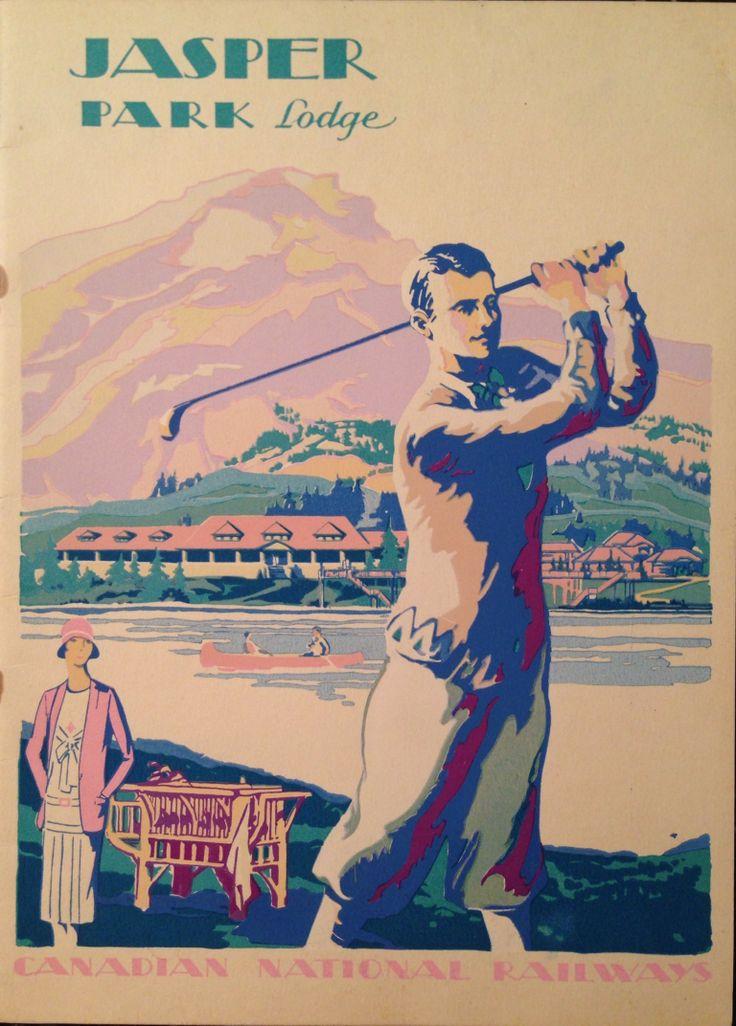 Jasper Park Lodge Travel Brochure 1929 Golf Cover