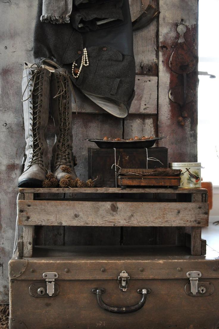 25 unieke idee n over oude koffers op pinterest vintage. Black Bedroom Furniture Sets. Home Design Ideas
