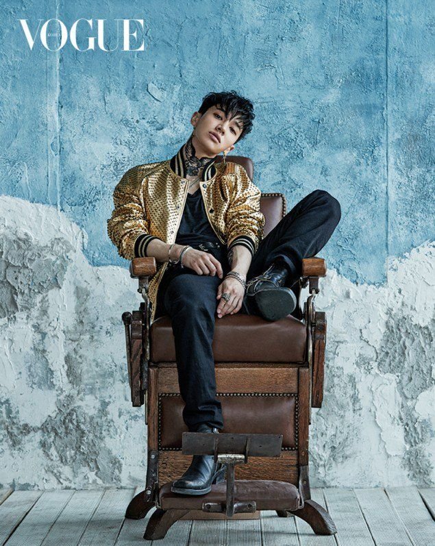Kim Kang Woo and Highlight's Kikwang are denim bros. for 'Vogue'! | allkpop.com