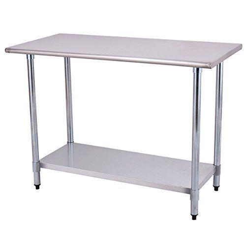 Goplus Stainless Steel Work Table Prep Work Table for Com