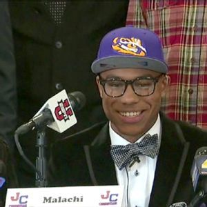 Les Miles expecting great things from Malachi Dupre  in 2014!  RollTideWarEaglecom great sports stories, audio podcast and FREE on line tutorial of college football rules. #CollegeFootball #LSU