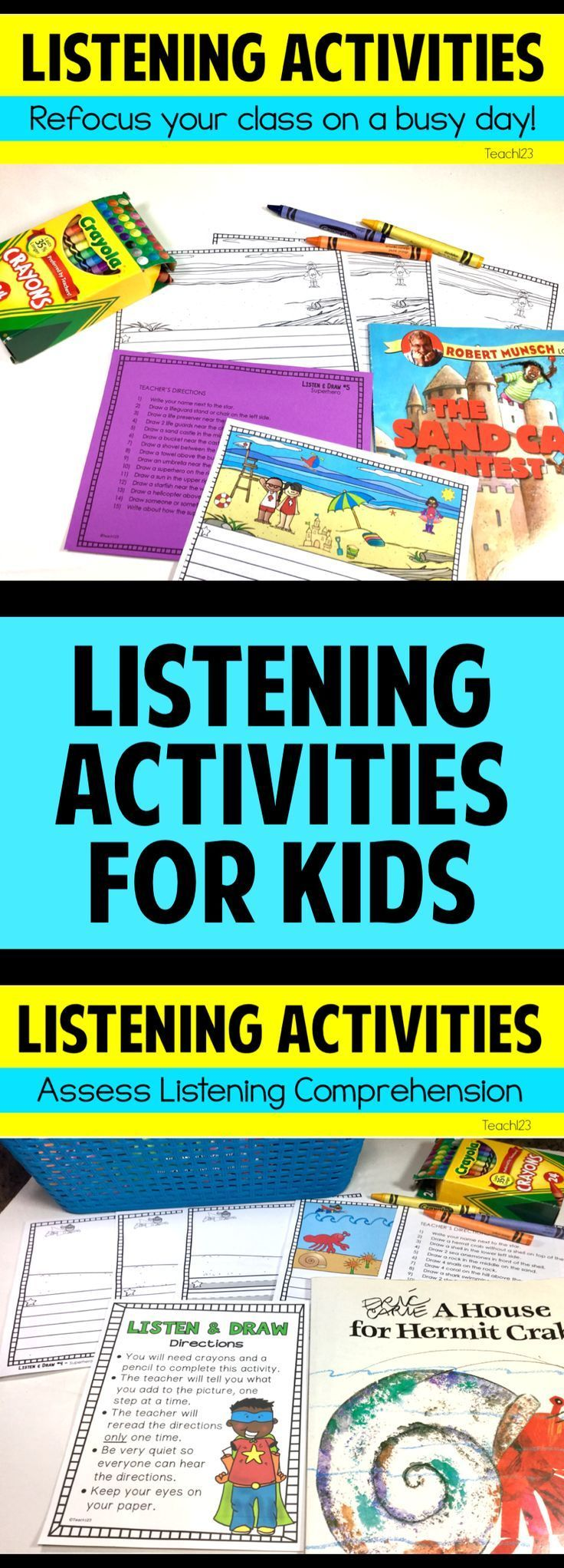 13 best Listening Activities for Elementary Students images on ...