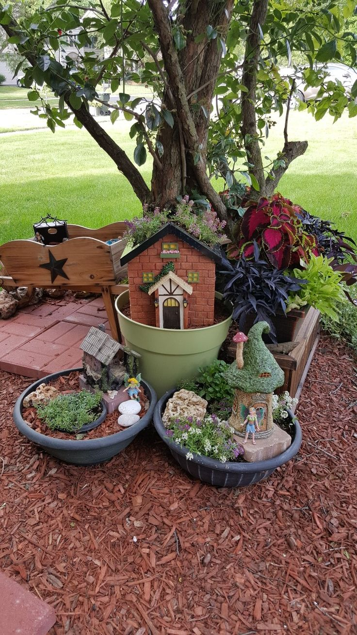 Janette's 2017 Fairy Garden (see my Pinterest page for fairies and houses  source)