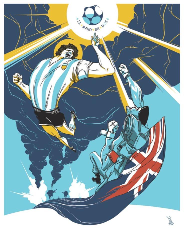 Maradona - La Mano de Dios / by Golpeavisa / Colaboración para Revista Lee+ de Gandhi