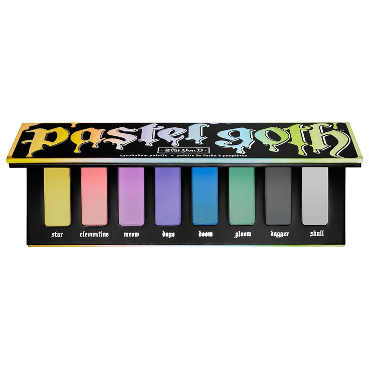 Shop Kat Von D's Pastel Goth Eyeshadow Palette at Sephora. This all-new eye shadow palette features eight matte pastel shades in Kat's signature formula.
