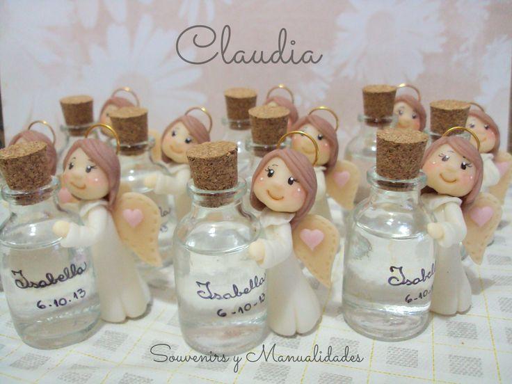 Bautismo: botellitas para agua bendita .-