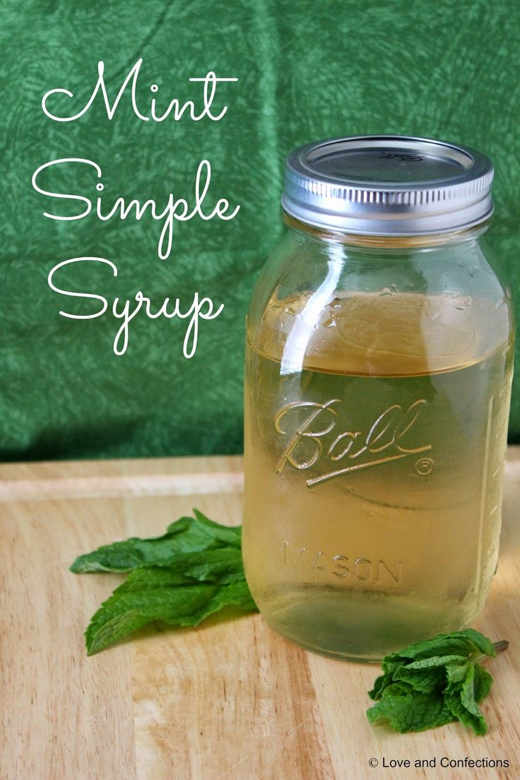 Mint Simple Syrup by Love and Confections!