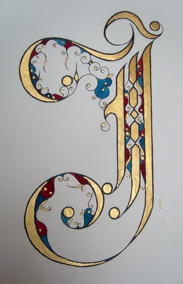 Fancy Letter J Design Calligraphy Art Lettering Alphabet
