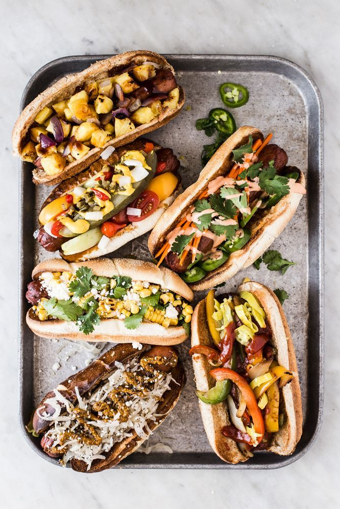 The Perfect Hot Dog Toppings | Take the stress out of summertime entertaining with a host's best friend, the ultimate hot dog toppings bar.