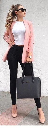 Love. Love. Love the pink blazer! Girl boss! Business equipment idea. #ShopStyle #s … Check more at beautymode.site / …