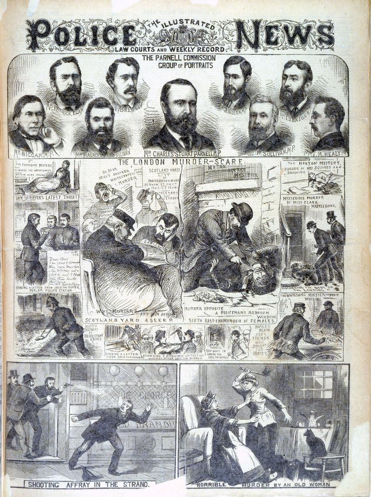 'The London Murder Scare' from the Illustrated Police News - The British Library
