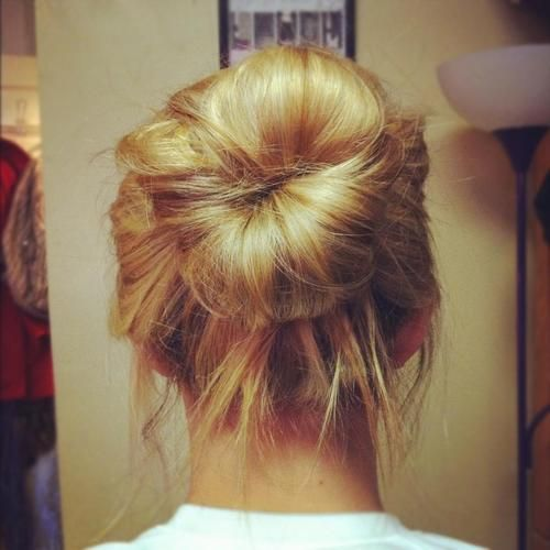 SO obsessed with the sock bun with now <3