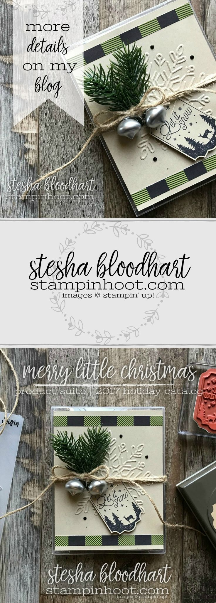 Merry Little Christmas Suite, Merry Little Labels Bundle and Acetate Boxes for a Cute Gift Box by Stesha Bloodhart, Stampin' Hoot! for Just Add Ink #389 #stampinhoot #steshabloodhart