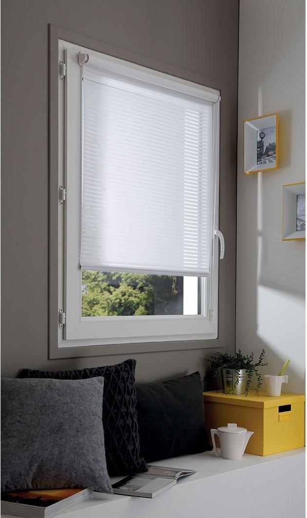 Store Enrouleur Tamisant Vainica Blanc 55x170 Cm In 2020 Roman Shade Curtain Maintal Home Decor