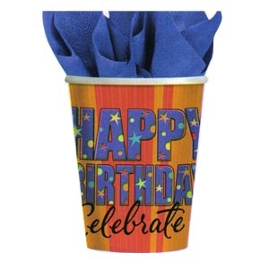 Cups 9 oz. (A Year To Celebrate) 8/pkg