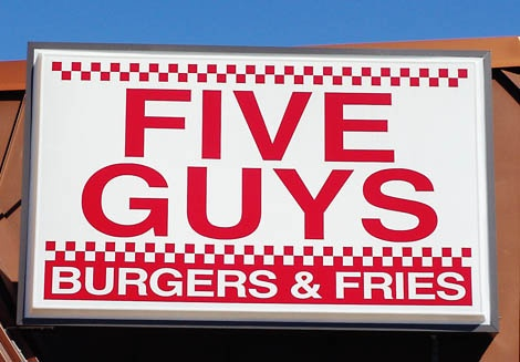 Five Guys- this place is amazing. If there's one near you go!