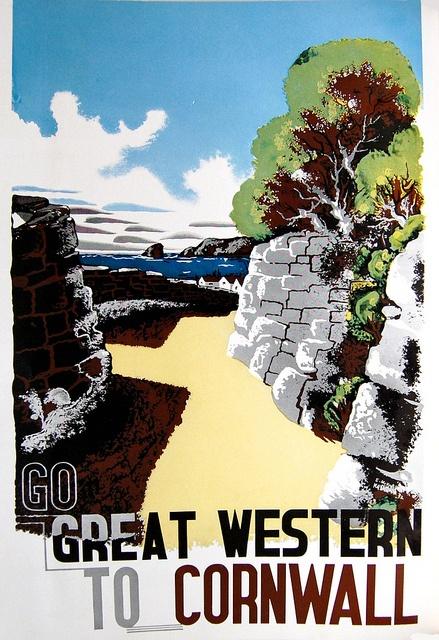 Vintage Visit Cornwall Poster