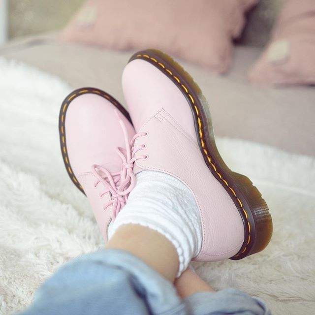 The 1461 shoe in Bubblegum Virginia. Shared by lecomptoirdelilou