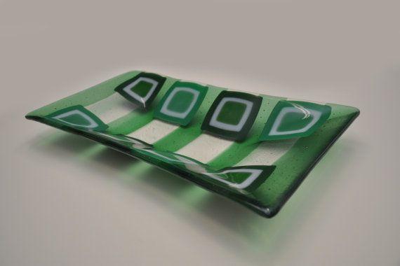 "Decorative handmade plate ""Stagno"" by ASTGLASS,"