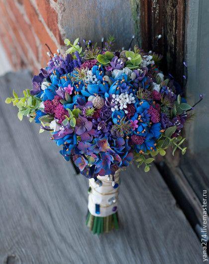 """Свадебные цветы ручной работы """"Для нее, роскошной"""" Handmade."""