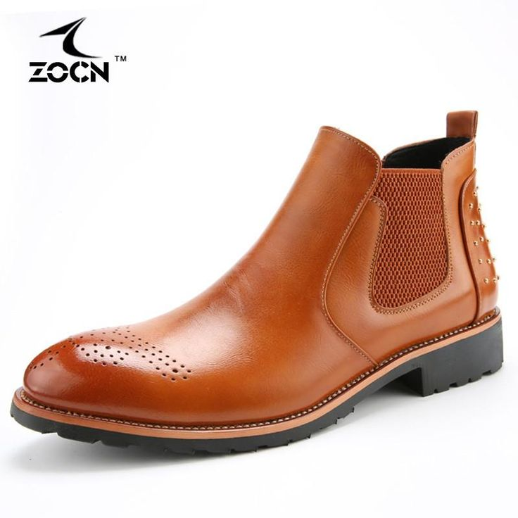 Men Chelsea Casual/Dress Leather Boots