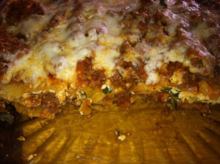 Venison Lasagna with Spinach | Rich Momma Blog