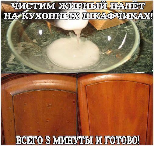 Вам потребуется сода и подсолнечное масло (1,5:1), развести как сметану, средней…