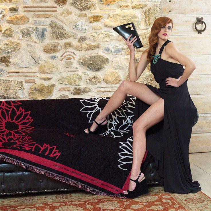 Ριχτάρια Καναπέ Versace, σχ. Arredo Fiore, Gold Line