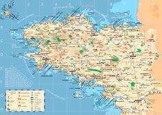 Love this tourist map of Brittany
