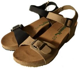 Italian sandals with buckles and leather, made in Italy by Bionatura, spring 2015