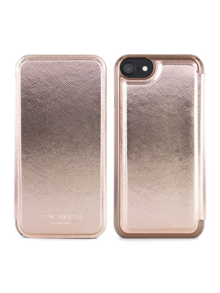 Designed for a smooth, seamless finish, the Shannon case is crafted in a super-soft PU leather effect with our signature polycarbonate back shell embedded in to the case. This pretty, protective case complements your iPhone's premium aesthetic with its meticulous attention to detail, including hand-crimped edges and an injected rose gold logo.Depth: 1 MMHeight: 14 MMWidth: 7 MMOfficial Ted Baker smartphone case, exclusively designed for your Apple iPhone 6/6S/7Crafted in super-soft ...