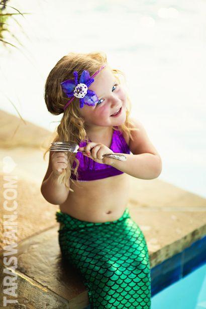 Mermaid session for little girls