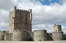 View of Bragança Castle. The large keep tower was built in the 15th century.