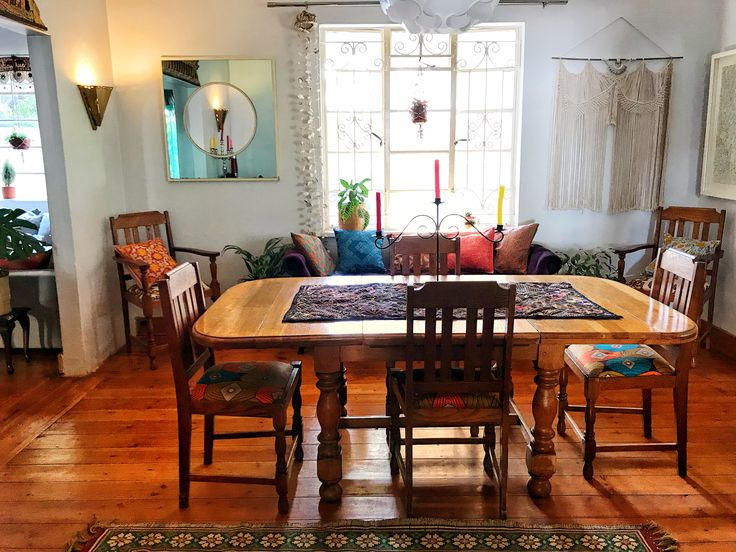 A Furbelow Dining Room #bohointeriors #gypseydecor #bohoglam #boho #bohemianstyle #bohostyle #beautifullyboho #ihavethisthingwithcolour #ihavethisthingwithtextiles #gypseyset #makeityours #inmydomain #bohochic #electichome #eclecticdecor #maximalism #myhomevibe #planteriordesign #myhyggehome