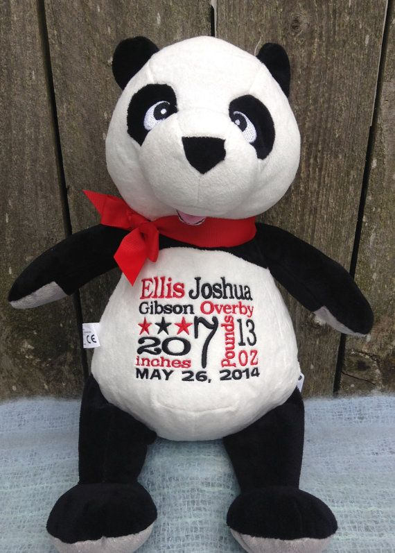 144 best new baby images on pinterest personalized baby gifts this adorable plush panda can be personalized for any negle Choice Image