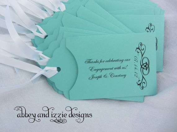 Personalized Lottery Ticket Holder, Engagement Party Favors, Rehearsal Dinner Favors,. $53.70, via Etsy.