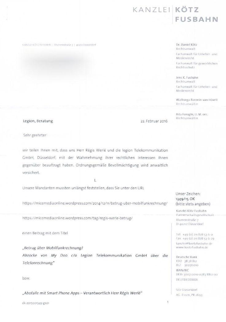 MyDoo - Schreiben vom Amtsgericht Bonn MyDoo Abzocke über Handy Abofalle. My Doo c/o Legion Telekommunikation GmbH und deren Geschäftsführer Herr Régis Werlébereibt diese Masche immer wieder. Wir empfehlen in jedem Fall gegen derartige Rechnungen zu Klagen. Es liegen in der Regel keine abgeschlossenen Verträge mit MyDoo vor.  https://micemediaonline.wordpress.com/tag/regis-werle-betrug/  #MyDoo #Legion #Drittanbieter #Handyrechnung #Telefonrechnung #Abofalle #Handyspiele #HandyApp…