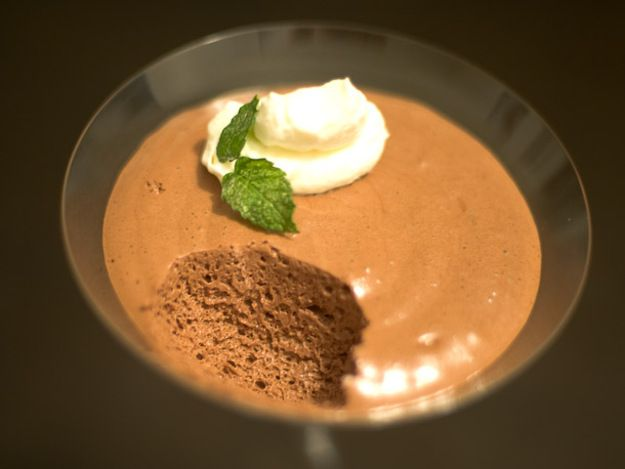 This is a traditional French chocolate mousse inspired by Pierre Herme's recipe that's been punched up a bit with the addition of espresso powder. Many cooks, fearing raw eggs, have taken to using gelatin and cream instead of eggs in mousse, but I find those recipes to be leaden and missing the point. This is the real deal.