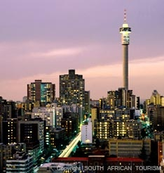 The city of gold, Johannesburg, South Africa