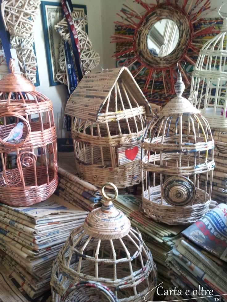 cages from waste paper