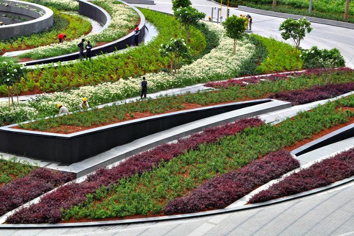 Project burj khalifa park designer swa group location for Garden design dubai